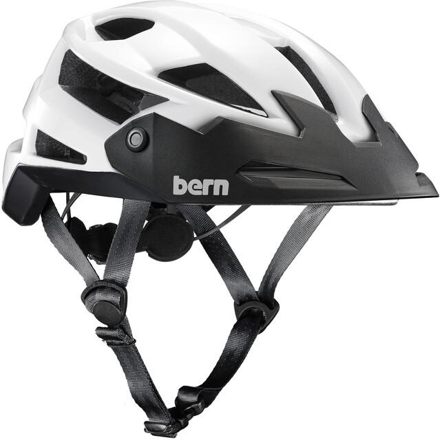 Bern FL-1 TRAIL Helmet with Visor Gloss Vit